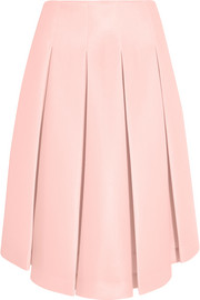 Simone Rocha Pleated scuba-mesh midi skirt