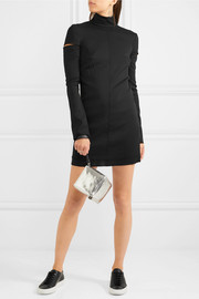 Helmut Lang Cutout wool-blend turtleneck mini dress