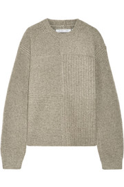 Helmut Lang Ribbed wool, yak and cashmere-blend sweater