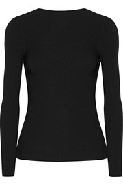 Helmut Lang Tie-back ribbed stretch-knit top