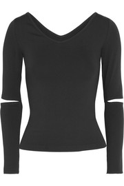 Helmut Lang Cutout stretch-jersey top