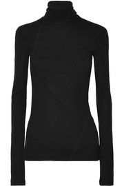 Helmut Lang Ribbed cotton turtleneck top