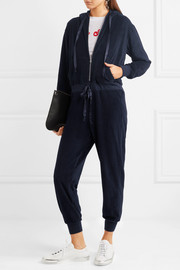 CLU Hooded velour jumpsuit