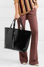 Betty large glossed-leather tote