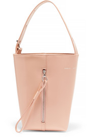 KARA Box Pail patent-leather tote