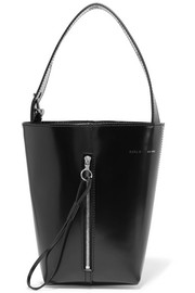 Box Pail patent-leather tote