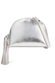 Loeffler Randall Tasseled metallic textured-leather shoulder bag