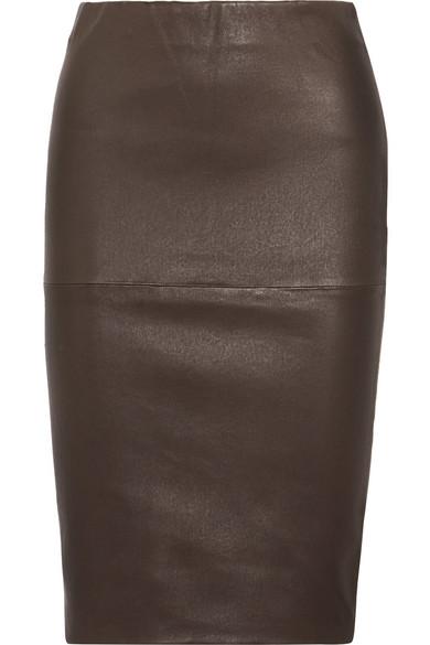 ca36712b6a By Malene Birger   Floridia stretch-leather midi skirt   NET-A ...