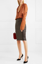 By Malene Birger Floridia stretch-leather midi skirt