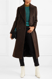 By Malene Birger Ayana double-breasted brushed knitted coat