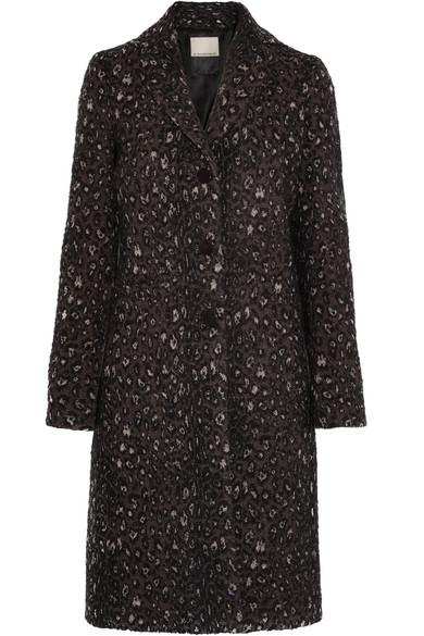 By Malene Birger - Glittha Leopard-jacquard Coat - Black