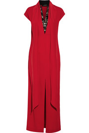 Lappi crystal-embellished crepe maxi dress