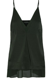 By Malene Birger Caralino layered satin and georgette camisole