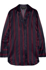 By Malene Birger Fridari striped washed-satin shirt