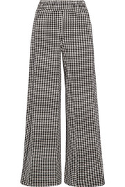 By Malene Birger Belliz houndstooth knitted wide-leg pants
