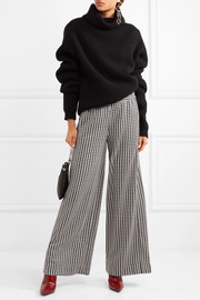 Belliz houndstooth knitted wide-leg pants
