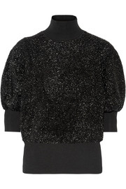 By Malene Birger Anwerpa metallic knitted turtleneck sweater
