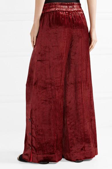 by malene birger pantalon large en velours ray clamirana net a porter com. Black Bedroom Furniture Sets. Home Design Ideas