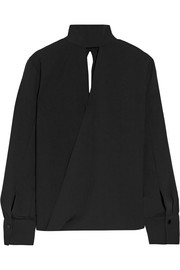 By Malene Birger Almara cutout crepe blouse