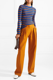 By Malene Birger Striped metallic ribbed-knit sweater
