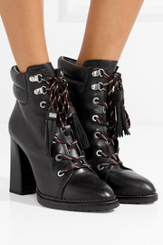 Sondra lace-up leather ankle boots