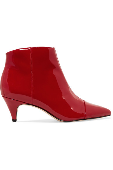 a89eb63afe64a7 Sam Edelman. Kinzey patent-leather ankle boots