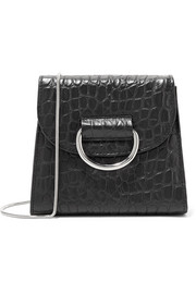D Tiny Box croc-effect leather shoulder bag