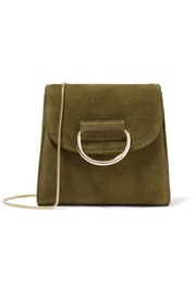Little Liffner D Tiny Box suede shoulder bag