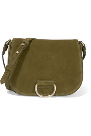 D Saddle medium suede shoulder bag
