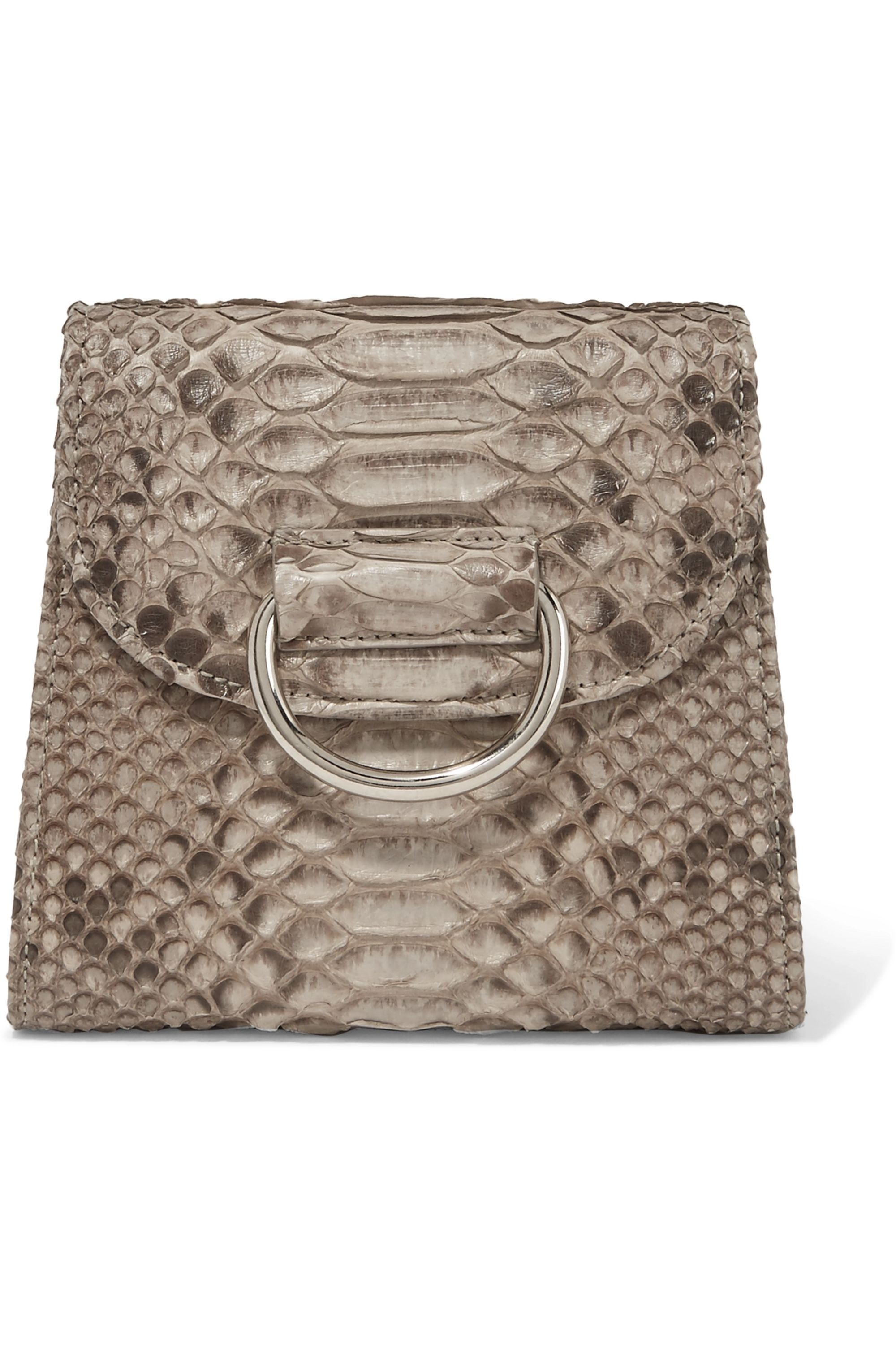 Little Liffner D Tiny Box python shoulder bag