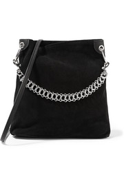 Candybag suede shoulder bag