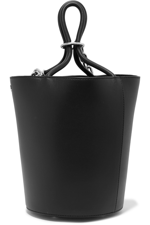 Alexander Wang Roxy chain-embellished leather bucket bag