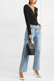 Roxy chain-embellished leather bucket bag