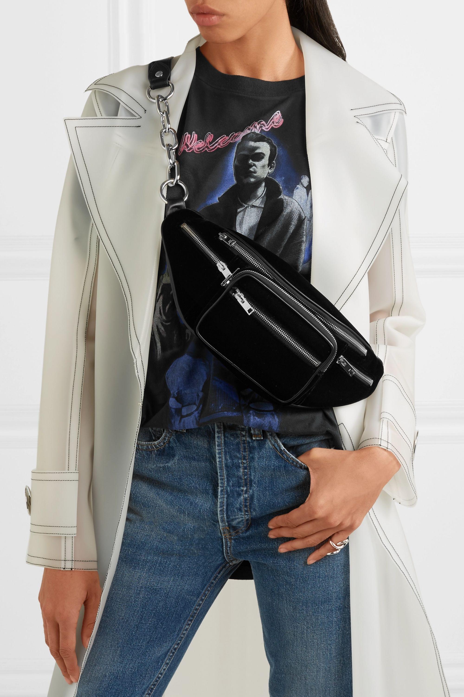 Alexander Wang Attica leather and velvet belt bag