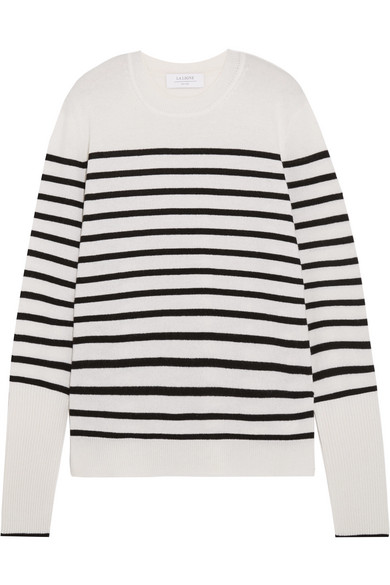Striped Cashmere Sweater - Gray La Ligne Quality For Sale Free Shipping Outlet Pay With Paypal v6ub9AB8DL