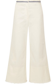 La Ligne Cropped cotton-blend twill wide-leg pants