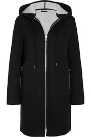 Hooded neoprene-jersey coat
