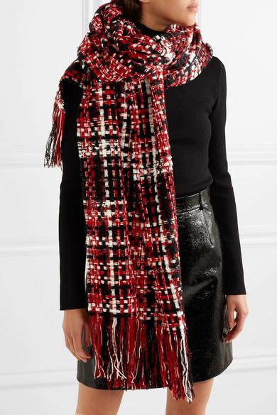 Linton Fringed Wool-blend Tweed Scarf - Red Rag & Bone DeBpatqONy