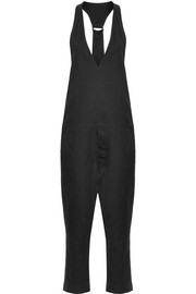 Cotton-blend drill jumpsuit