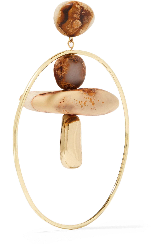 Dinosaur Designs Pebble Hoop gold-filled resin earrings
