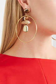 Pebble Hoop gold-filled resin earrings