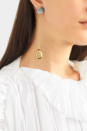 Mineral Drop gold-filled resin earrings