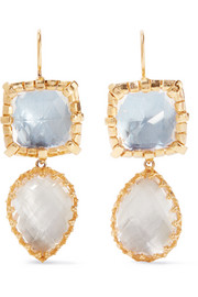 Sadie gold-dipped quartz earrings