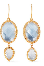 Larkspur & Hawk Sadie gold-dipped quartz earrings