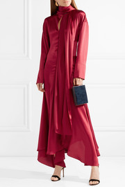 Alida asymmetric silk-satin maxi dress