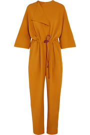 Tamiko stretch crepe de chine jumpsuit