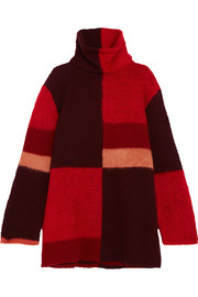 Roksanda Ekema oversized color-block wool-blend turtleneck sweater