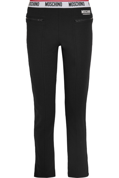 Moschino - Cotton-blend And Fleece Track Pants - Black