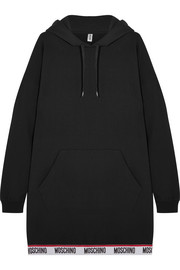 Moschino Hooded cotton-blend fleece mini dress