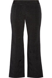 Moire wide-leg pants